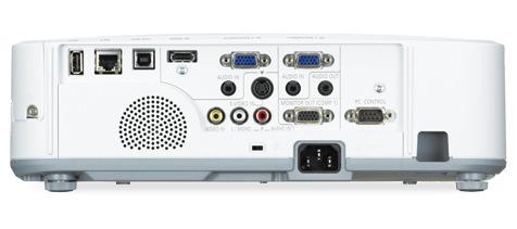 NEC M271X, M311X and M311W Portable Projectors back