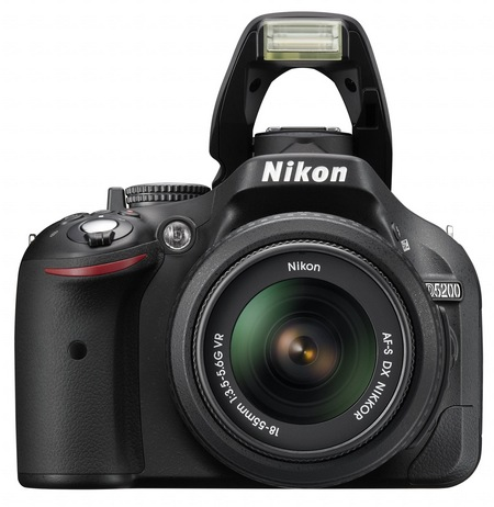 Nikon D5200 Digital SLR Camera with 39-point AF and 24.1 Megapixel Sensor flash open