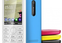 Nokia 206 S40 phone with slam colors