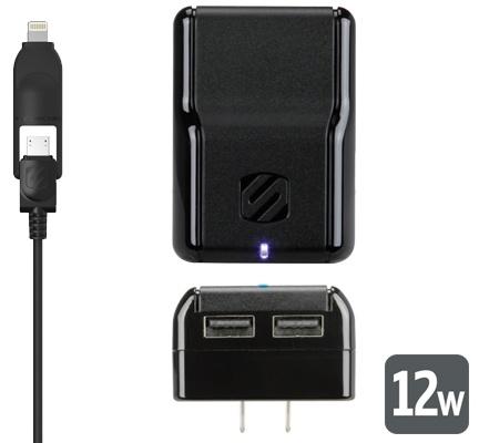 Scosche strikeBASE pro 12W + 12W lightning wall charger