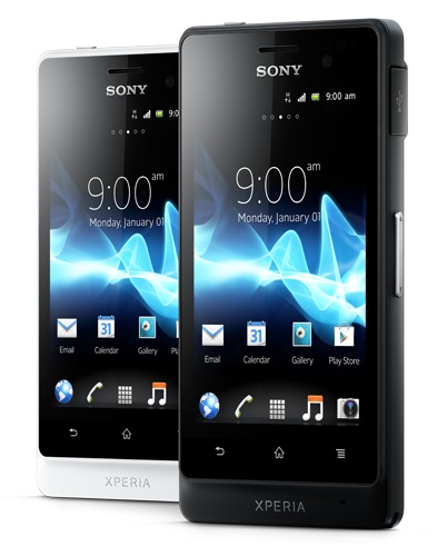 Sony Xperia advance Rugged Smartphone black white