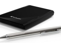 Verbatim Store n Go Ultra Slim Portable Hard Drive with pen