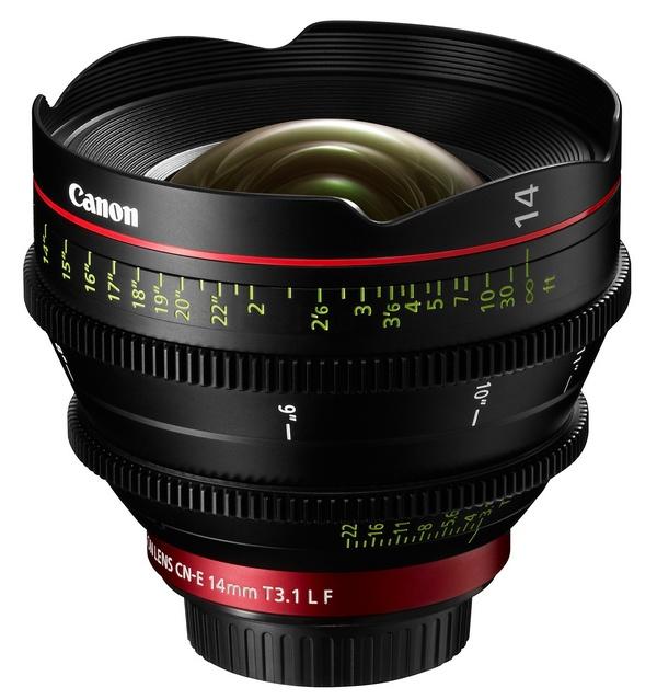 Canon Cinema Prime CN-E14mm T3.1 L F lens