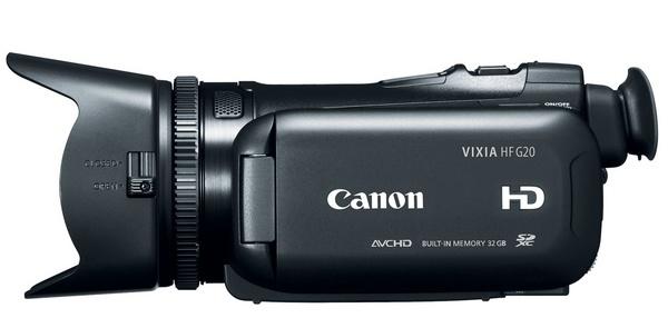 Canon VIXIA HF G20 Prosumer Full HD Camcorder side