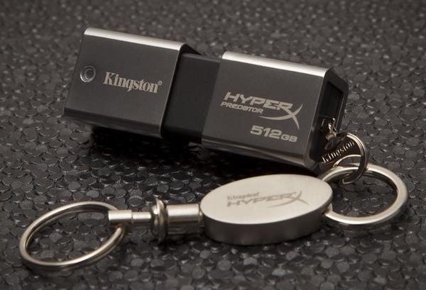 Kingston DataTraveler HyperX Predator 3.0 1TB USB 3.0 Flash Drive with keychain