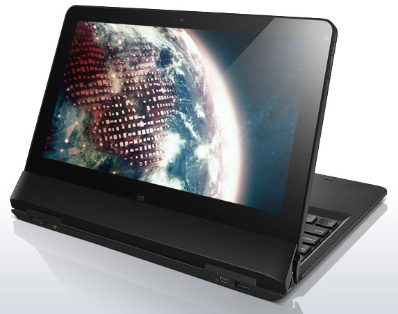 Lenovo ThinkPad Helix Convertible Ultrabook table stand mode