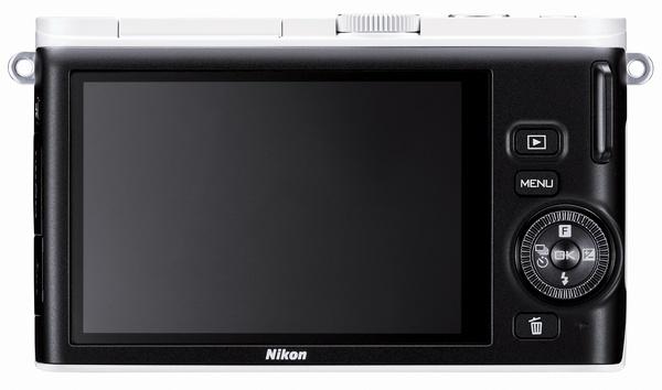 Nikon 1 J3 mirrorless camera white back