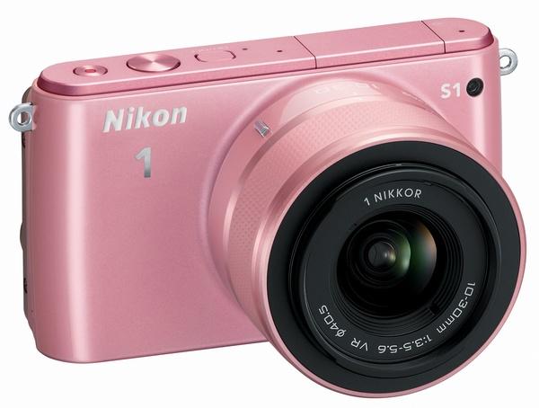 Nikon 1 S1 mirrorless camera pink