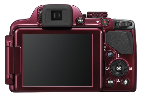 Nikon CoolPix P520 42x Ultra Zoom Camera red back