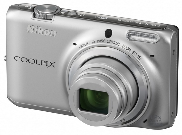Nikon CoolPix S6500 Compact Camera with 12x Optical Zoom and WiFi SILVER
