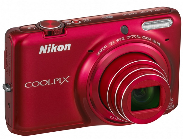 Nikon CoolPix S6500 Compact Camera with 12x Optical Zoom and WiFi red