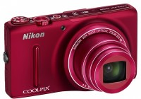 Nikon CoolPix S9500 and S9400 Slim Super Zoom Cameras with WiFi red