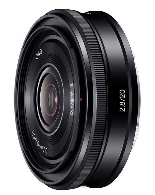 Sony 20mm F2.8 pancake wide angle lens