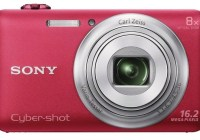 Sony Cyber-shot WX80 8x Zoom Camera with WiFi red