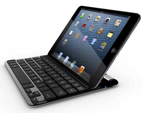 Belkin FastFit Keyboard Case for iPad mini in use