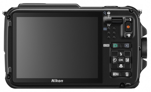 Nikon CoolPix AW110 rugged four-proof camera back