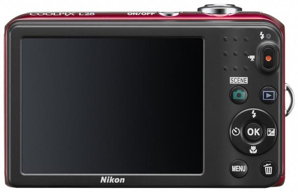 Nikon CoolPix L28 compact digital camera back