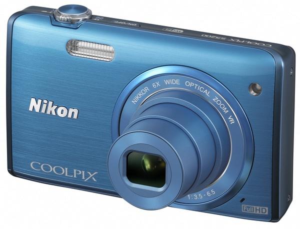 Nikon CoolPix S5200 digital camera blue