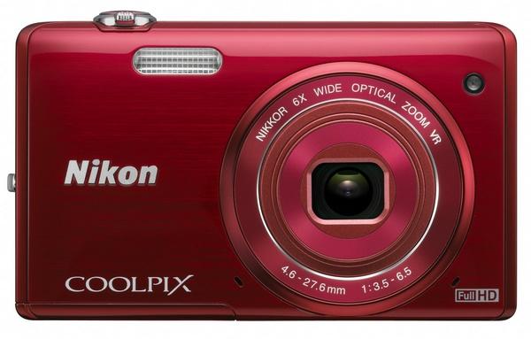 Nikon CoolPix S5200 digital camera red
