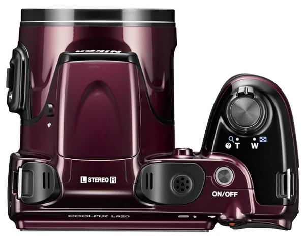 Nikon Coolpix L820 with 30x Optical Zoom plum top