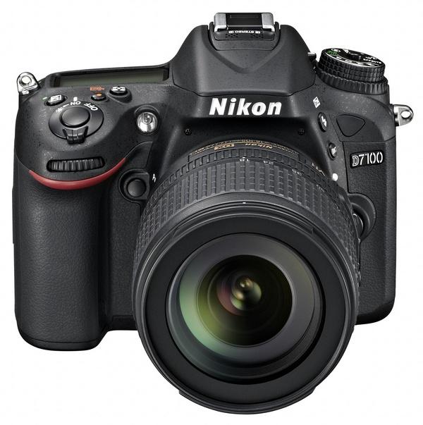 Nikon D7100 DX-Format DSLR front angle
