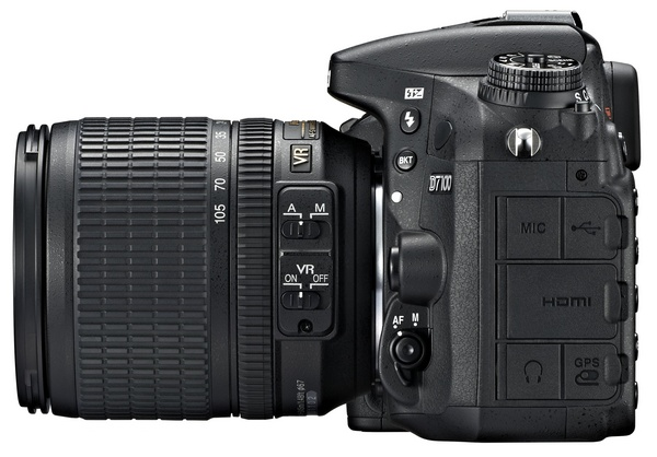 Nikon D7100 DX-Format DSLR side