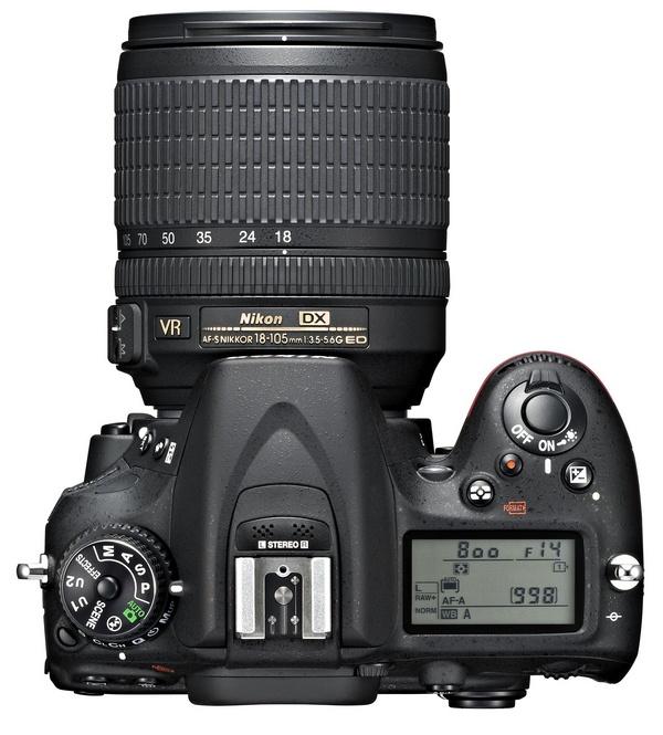 Nikon D7100 DX-Format DSLR top