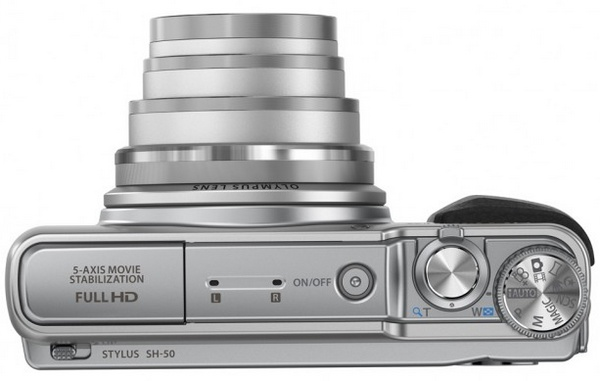 Olympus STYLUS SH-50 iHS Long-zoom Point-and-Shoot with 5-Axis Video Stabilization top