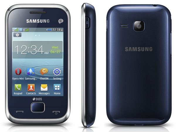 Samsung REX 60 (GT-C3312R) smart feature phone blue