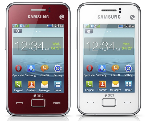 Samsung REX 80 (GT-S5222R) Smart Feature phone red white