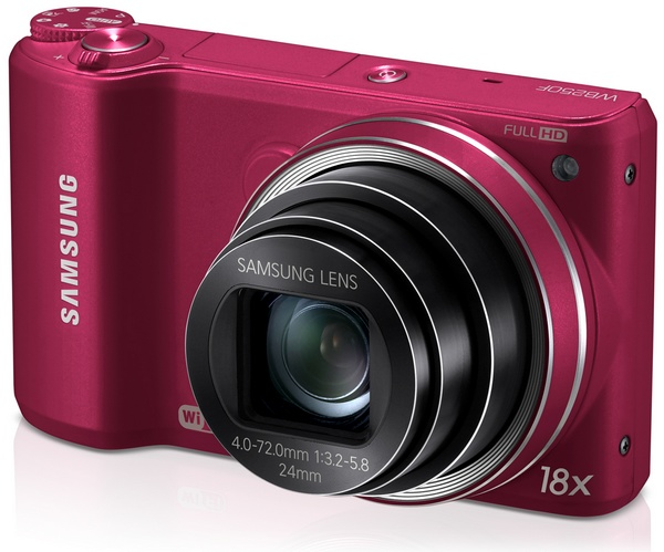 Samsung WB250F Smart Camera with WiFi and Touchscreen red