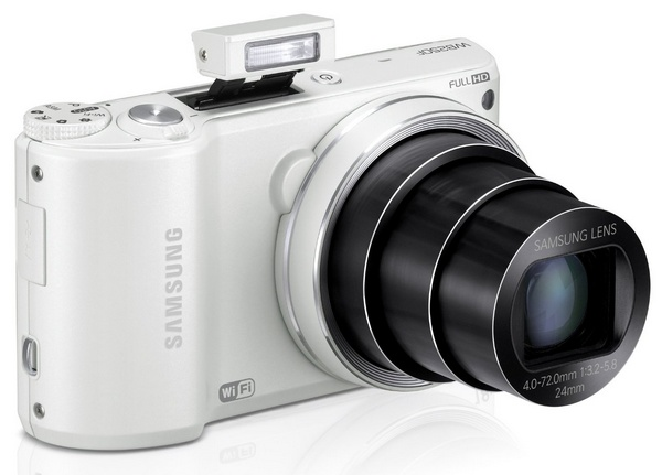 Samsung WB250F Smart Camera with WiFi and Touchscreen white