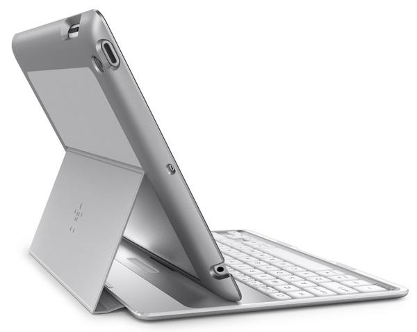 Belkin Ultimate Keyboard Case for iPad silver back