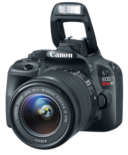 Canon EOS Rebel SL1 is the World's Smallest and Lightest DSLR angle flash