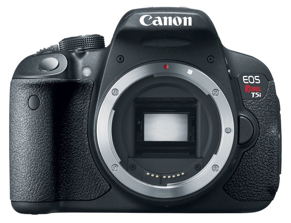 Canon EOS Rebel T5i DSLR Camera front no lens