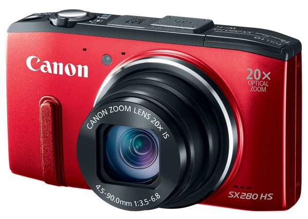 Canon PowerShot SX280 HS with 20x Optical Zoom, WiFi and GPS red