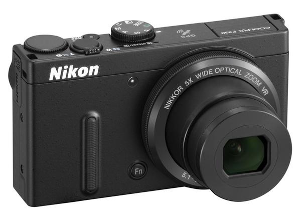 Nikon CoolPix P330 gets a f1.8 5x Optical Zoom Lens black angle