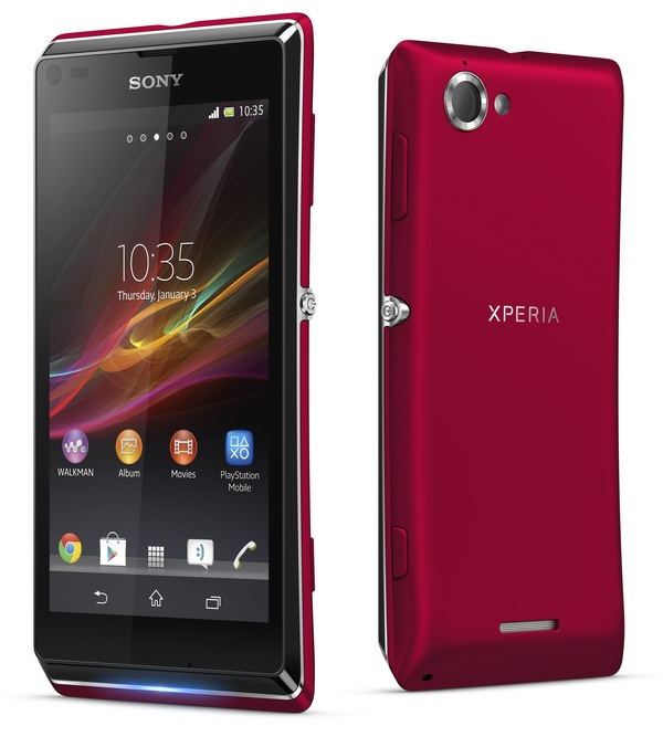 Sony Xperia L Stylish Entry-level Android Smartphone red