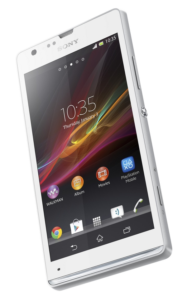 Sony Xperia SP Mid-range Smartphone white angle