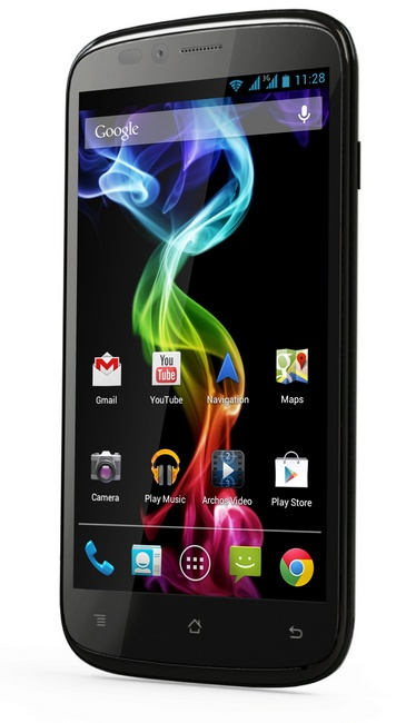Archos 53 Platinum Android smartphone angle 1