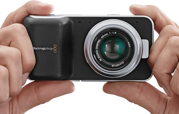 Blackmagic Pocket Cinema Camera uses Micro Four Thirds Mount on hand