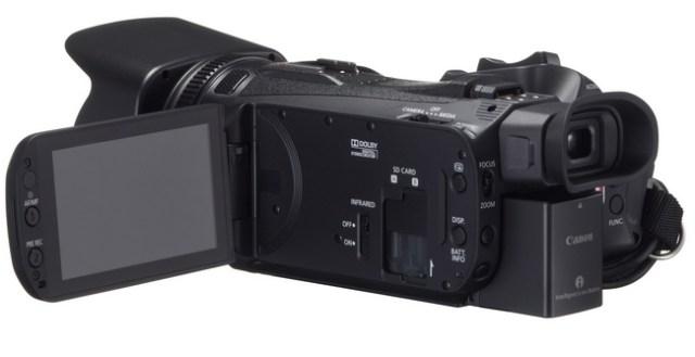 Canon XA25 and XA20 Ultra-Compact Professional Camcorders display