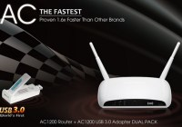 Edimax AC1200 DUAL PACK 802.11ac Router Adapter Combo