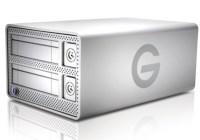 G-Technology G-DOCK ev with Thunderbolt hard drive dock angle