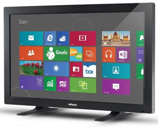 InFocus BigTouch 55-inch All-in-one Touchscreen PC runs Windows 8 start screen