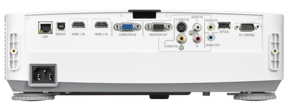 NEC NP-PE401H Entry-level Full HD Installation Projector back