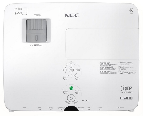 NEC NP-PE401H Entry-level Full HD Installation Projector top