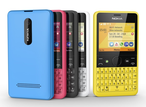 Nokia Asha 210 QWERTY Phone with WhatsApp Button colors 1