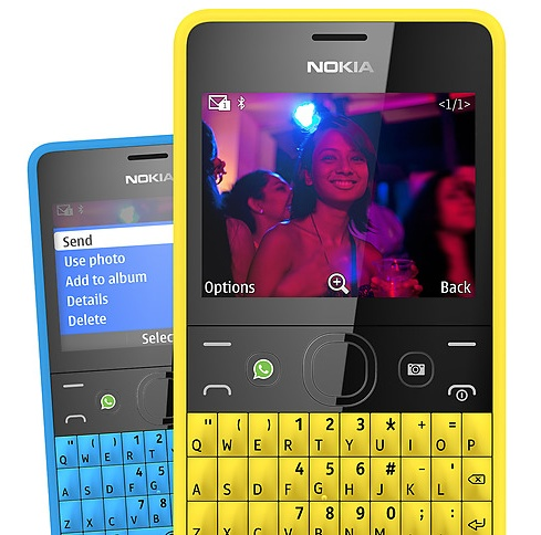Nokia Asha 210 QWERTY Phone with WhatsApp Button photo
