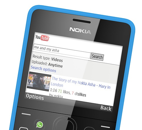 Nokia Asha 210 QWERTY Phone with WhatsApp Button youtube